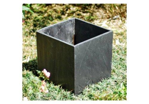 Bloembak Square Black Slate Planter