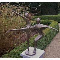 Beeld brons abstract danskoppel