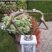 Beeld brons abstract verliefd danspaar