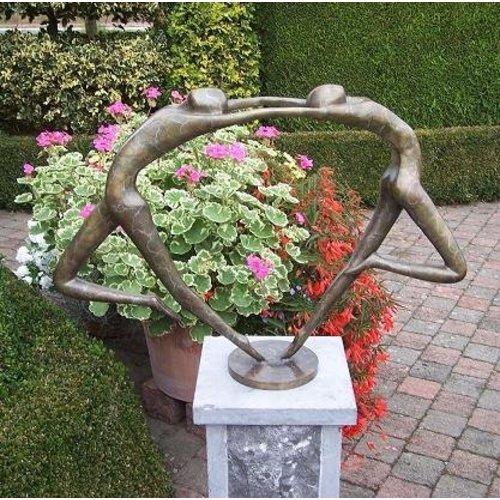 Eliassen Beeld brons abstract verliefd danspaar