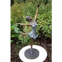 Beeld brons ballerina