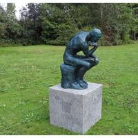 Beeld brons De Denker Van Rodin klein