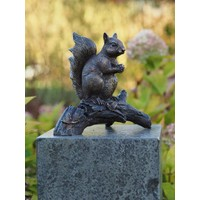 Beeld brons eekhoorn op tak
