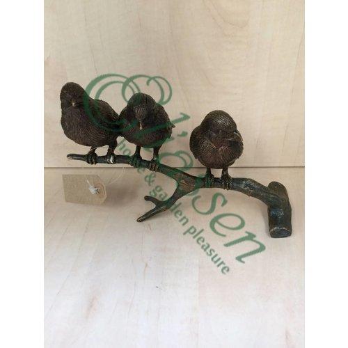 Eliassen Beeld brons mussen op tak