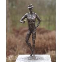 Beeld brons man modern
