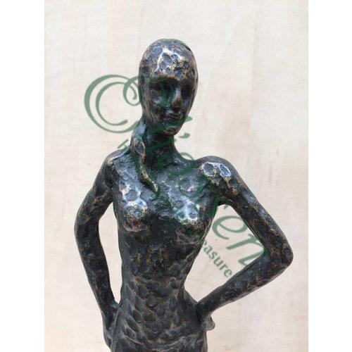 Eliassen Beeld brons vrouw modern