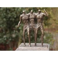 Beeld brons 3 mannen modern