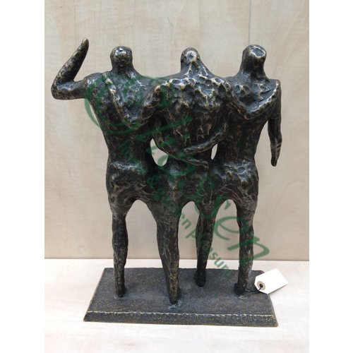 Eliassen Beeld brons 3 mannen modern