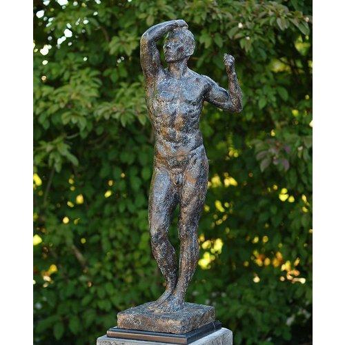 Eliassen Beeld brons naakte man van Rodin 92cm
