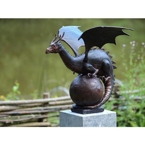 Eliassen Beeld brons draak op bol