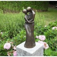 Beeld brons liefdespaar modern