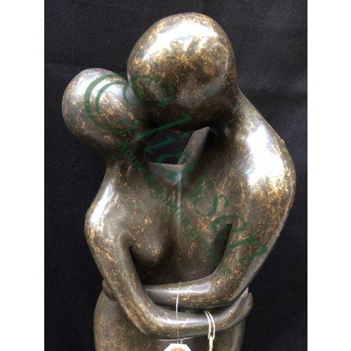 Eliassen Beeld brons liefdespaar modern