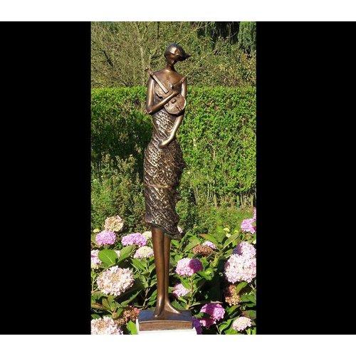 Eliassen Beeld brons vrouw met viool