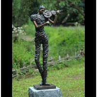 Beeld brons vioolspeelster