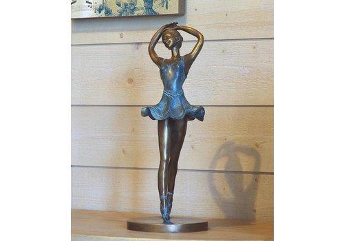 Beeld brons danseres op tenen