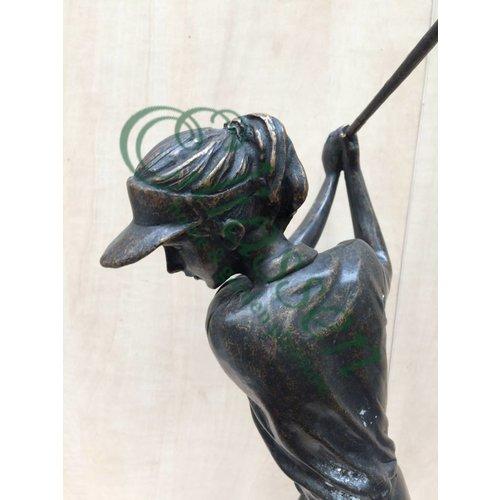Eliassen Beeld brons golfer dame of man