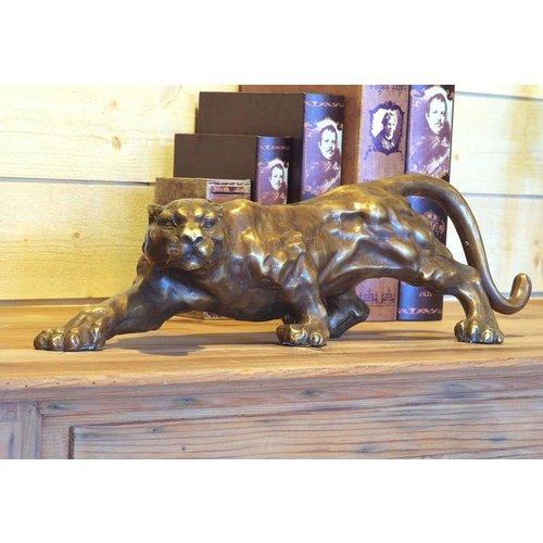 Eliassen Beeld brons jaguar 60cm