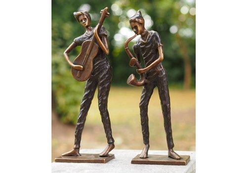 Beeld brons moderne muzikanten