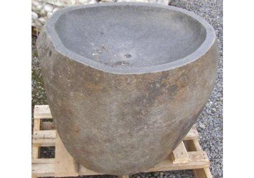 Fontein riviersteen uitgehold in 2 maten