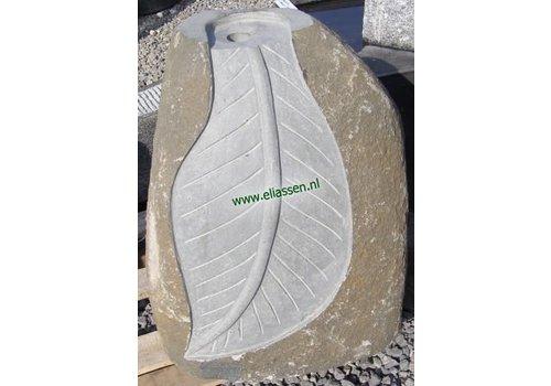 Waterornament Leaf Basaltsteen