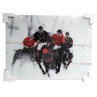 Glasschilderij  Polospelers 60x80cm