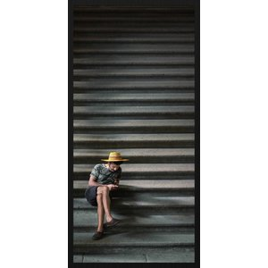 Wandkraft Schilderij forex Op de trap  48x98cm