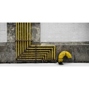 Wandkraft Schilderij dibond Industrie 98x48cm