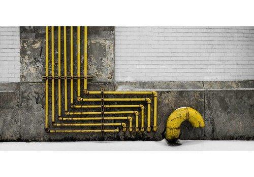 Schilderij dibond Industrie 98x48cm