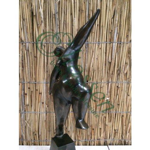 Bronzen dansende dame