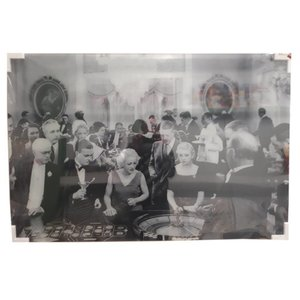 MondiArt Schilderij glas Roulette 80x120cm