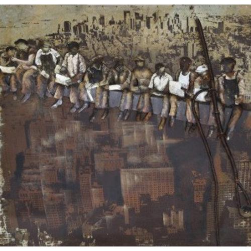 Eliassen 3D schilderij Sail bouwvakkers 100x100cm