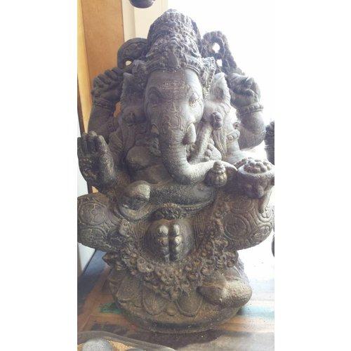 Eliassen Ganesha in lotus zit in 2 maten