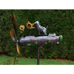 Eliassen Windmolen  Kat met bloemen