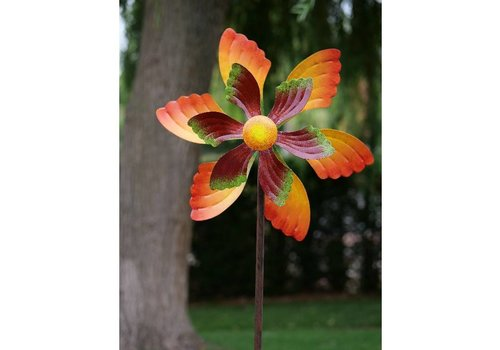 Windmolen  Bloem 45cm oranje