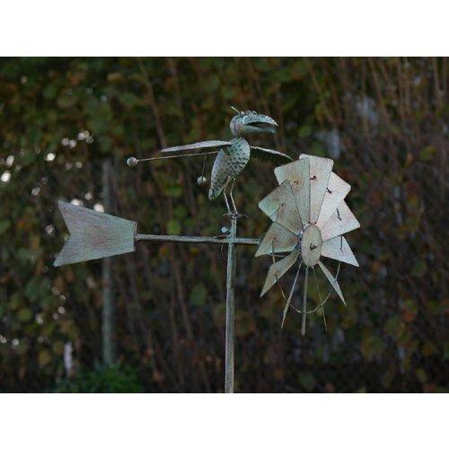 Eliassen Windmolen tuinsteker met vogel