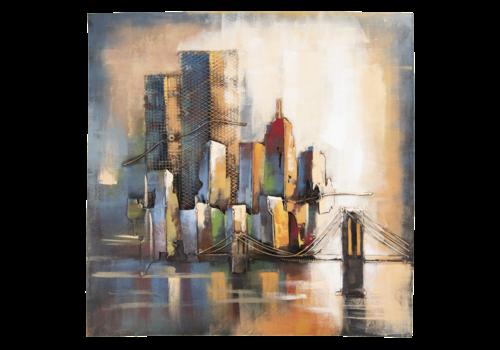 3D schilderij 100x100cm  Skyline
