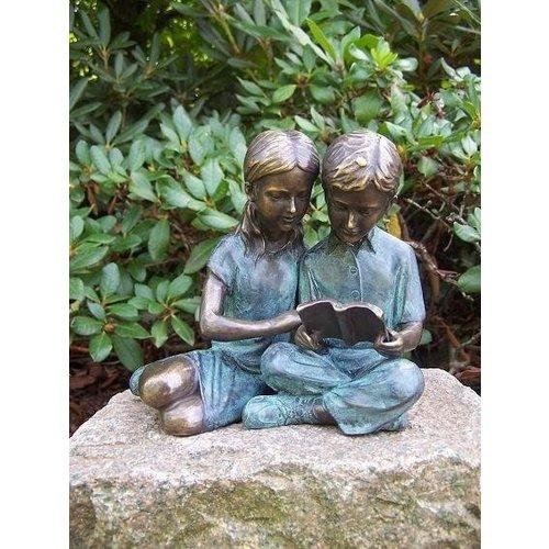Eliassen Beeld brons lezende kinderen