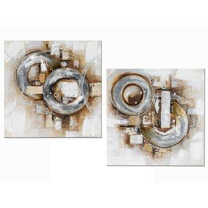 Tweeluik olieverf  Abstract 3