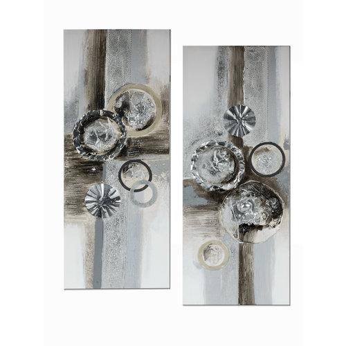 Tweeluik olieverf  Abstract 4