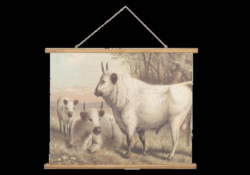 Wandkaart Runderen 100x75cm