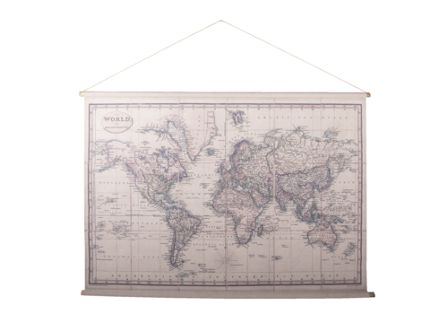 Wandkaart Wereld1 154x106cm