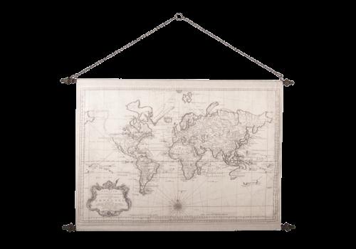Wandkaart Wereld2 130x87cm