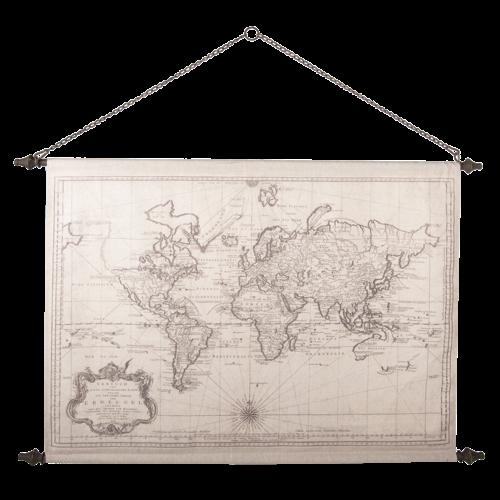 Eliassen Wandkaart Wereld2 130x87cm