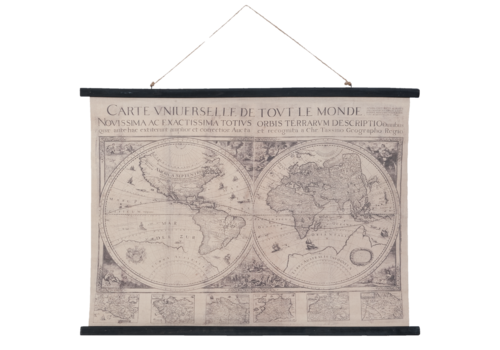 Wandkaart Wereld4  105x76cm
