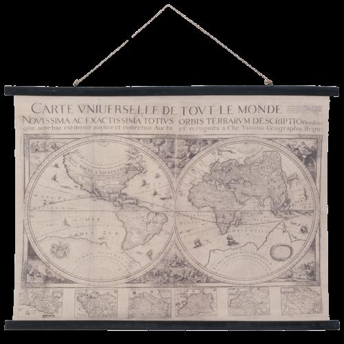 Eliassen Wandkaart Wereld4  105x76cm