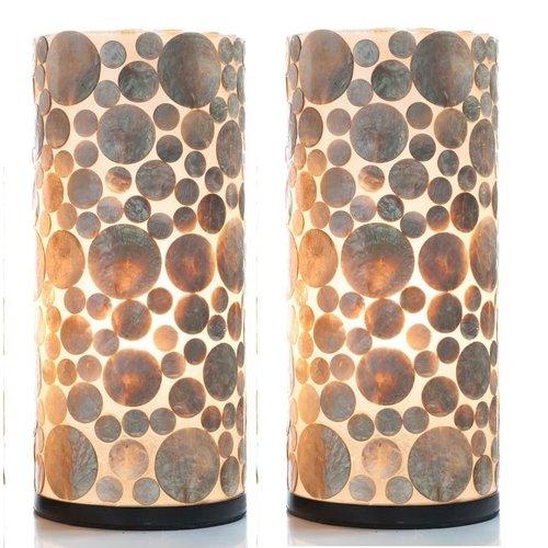 Tafellamp set 30cm Coin Gold
