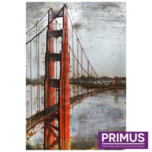 Primus 3D schilderij metaal 80x120cm Golden Gate brug
