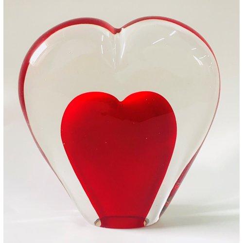 Glazen beeldje Hart 5