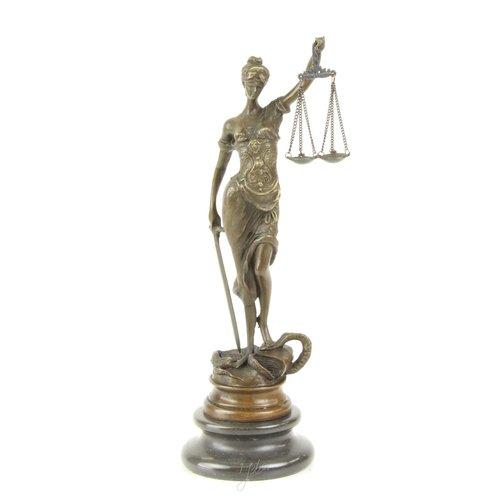 Bronzen beeld Vrouwe Justitia klassiek