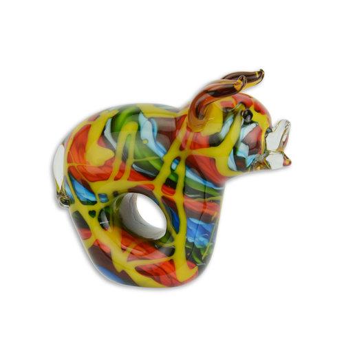 Glazen beeld muranostijl varken